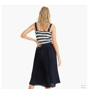 J Crew pleated lined Navy Skirt